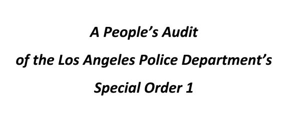 The People's Audit is intended to present the limited information that is available to date, highlight the lack of information available to the public, and reflect LA residents' viewpoints on...